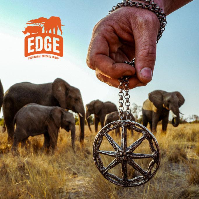 EDGE Pendants EDGE Elephant Rhino Pendant Large