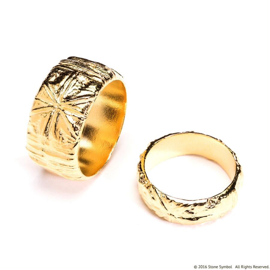 Men's Poet Ring Yellow Gold