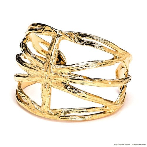 Agape Yellow Gold Cuff