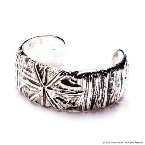 Small Poet Cuff Sterling Silver