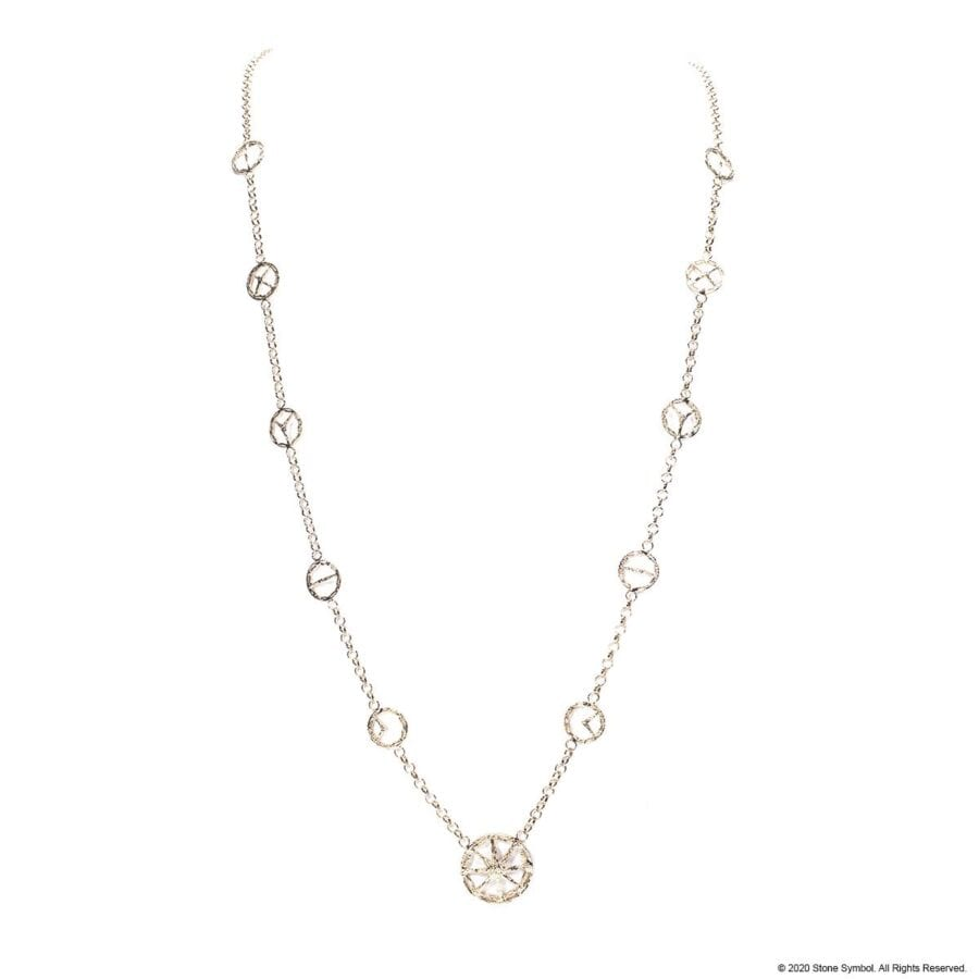 Embracing Unearthed Symbol Necklace White Gold