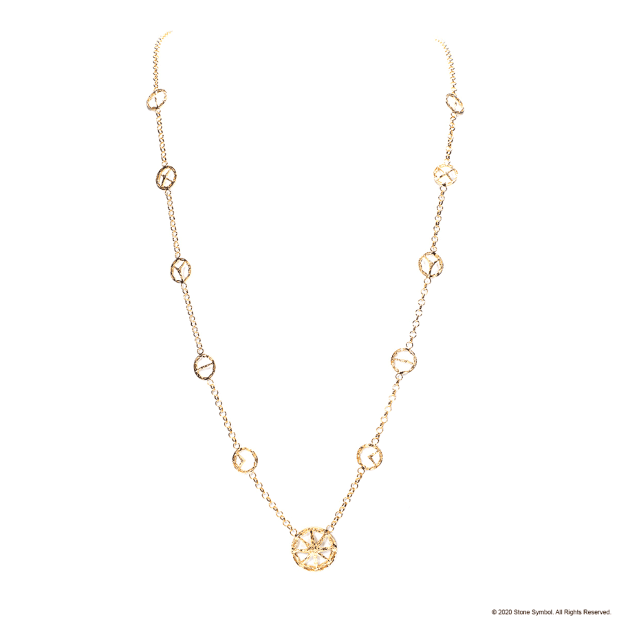 Embracing Unearthed Symbol Necklace Yellow Gold