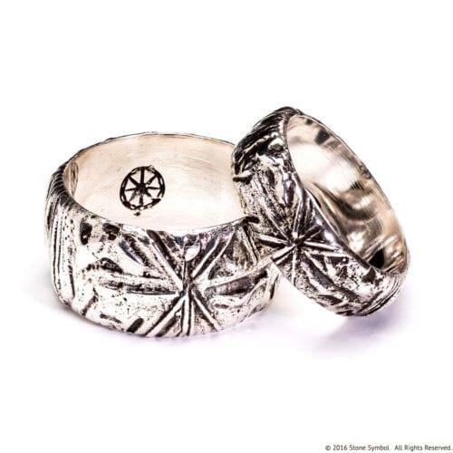Men's Poet Ring Sterling Silver Antiqued