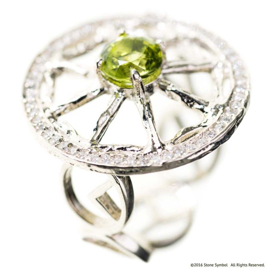 Peridot Diamond Unity Ring