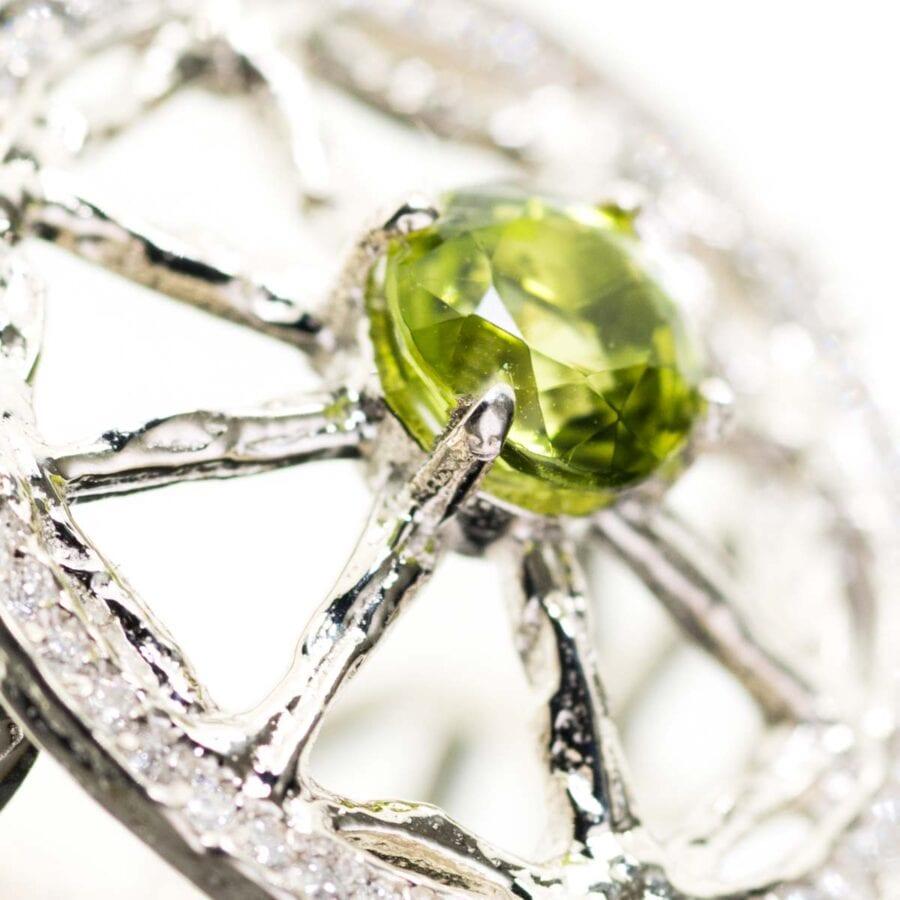 Peridot Unity Ring Close Up