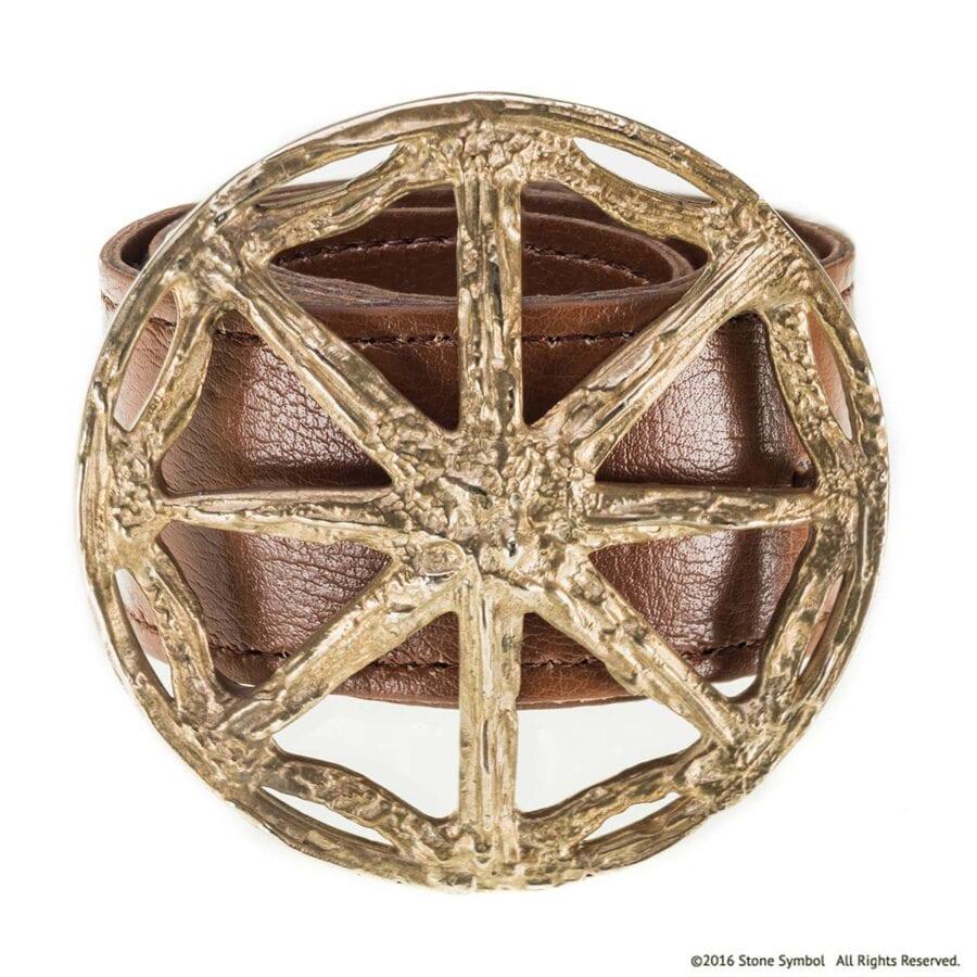 Unearthed Round Belt Buckle in Bronze