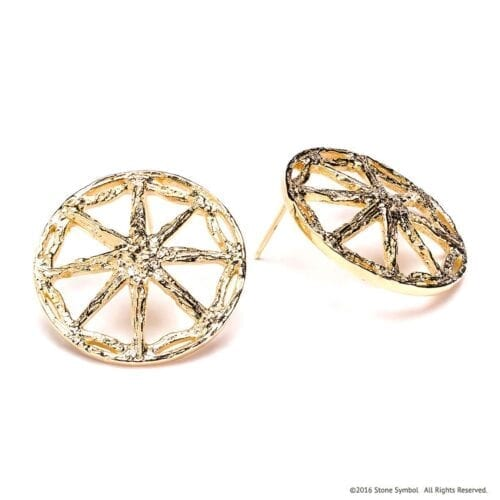 Sumptuous Unearthed Earrings Yellow Gold