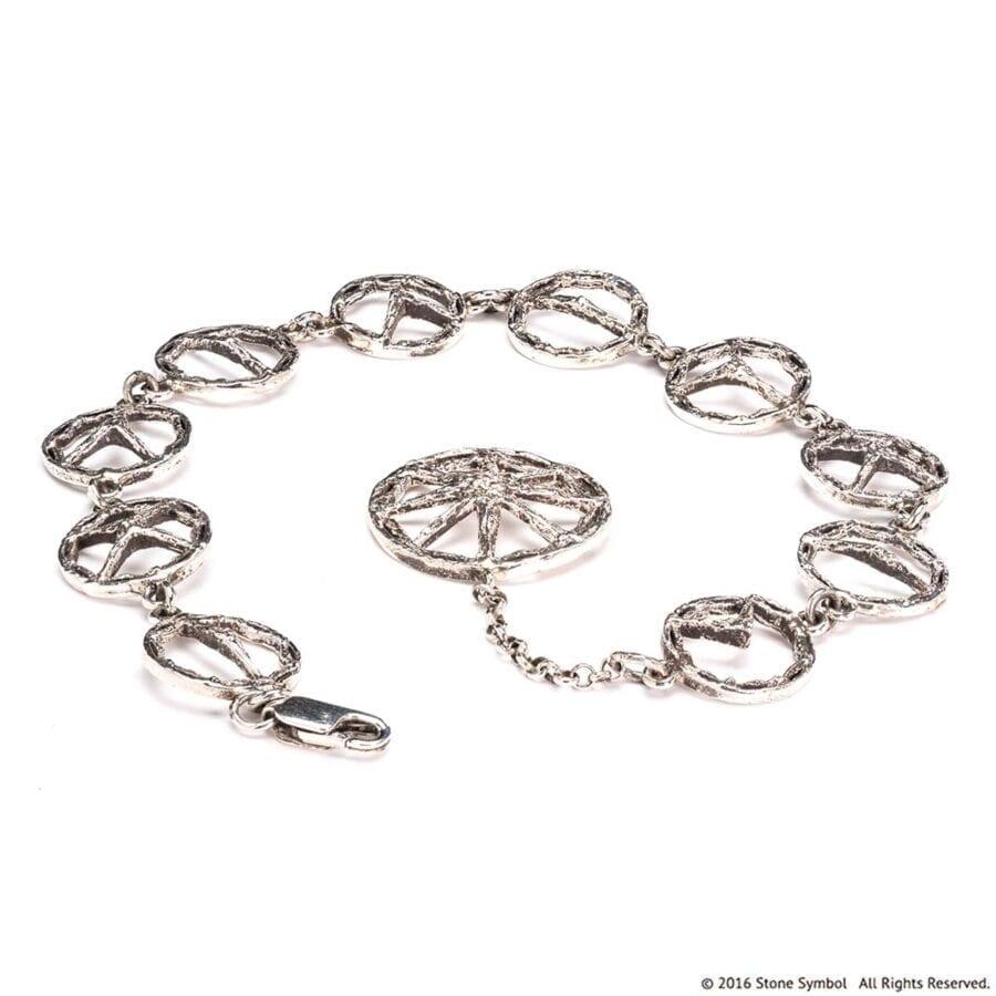 Suspended Unearthed Bracelet Sterling Silver
