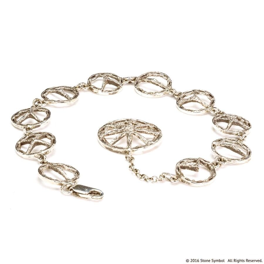 Suspended Unearthed Bracelet White Gold
