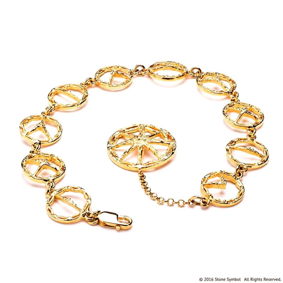Suspended Unearthed Bracelet Yellow Gold