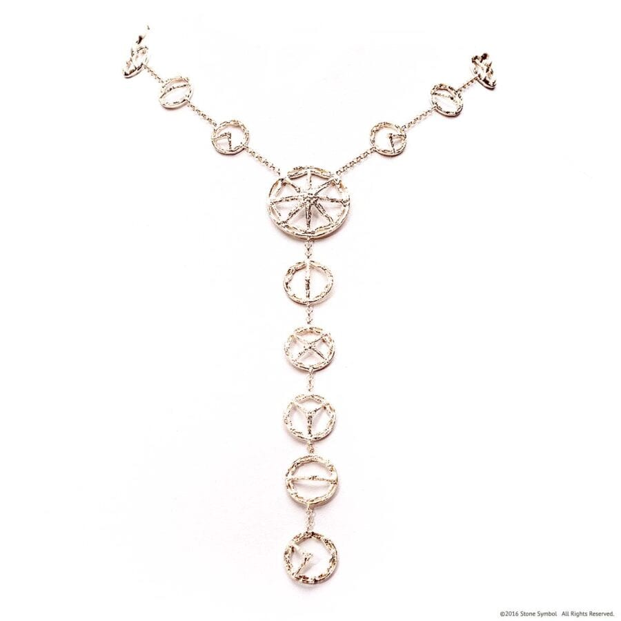 Trinity Necklace White Gold