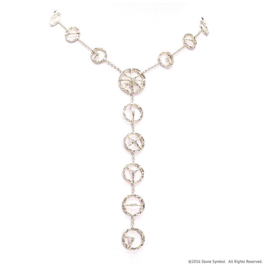 """Trinity """"S"""" Necklace White Gold"""