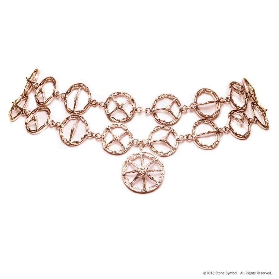 Unearthed Double Choker Rose Gold