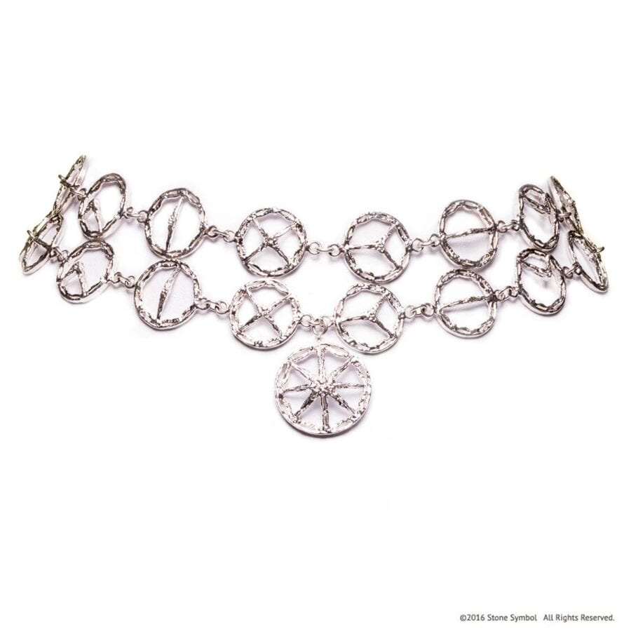 Unearthed Double Choker Sterling Silver