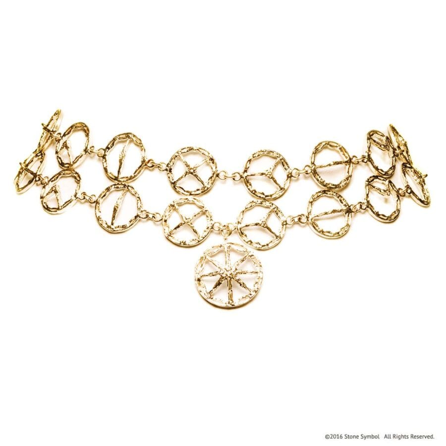 Unearthed Double Choker Yellow Gold