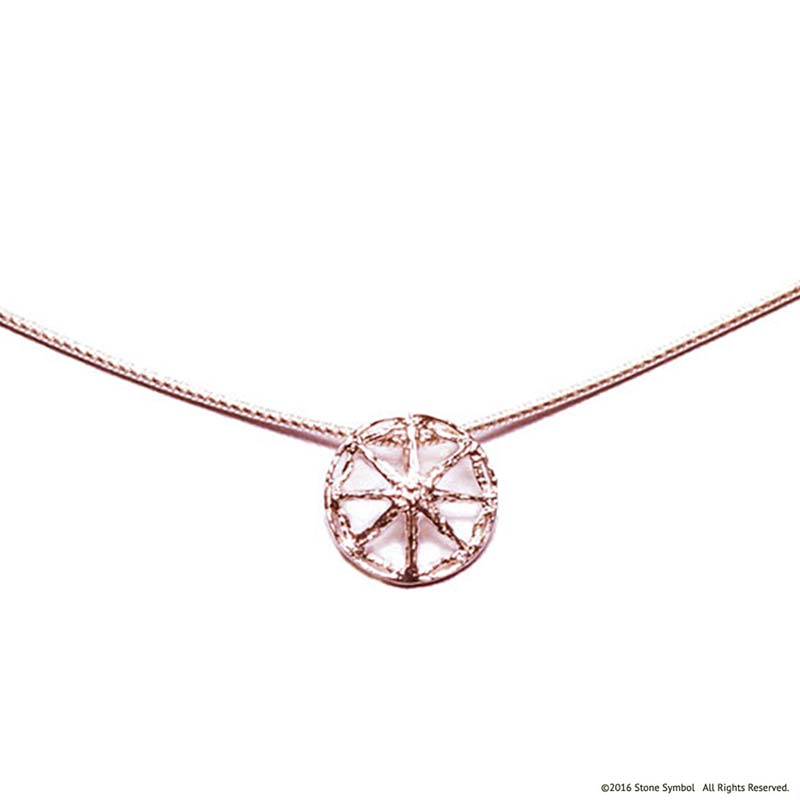 Unearthed Mini Pendant with Chain Rose Gold