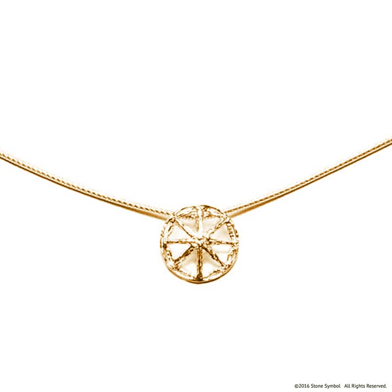 Unearthed Mini Pendant with Chain Yellow Gold