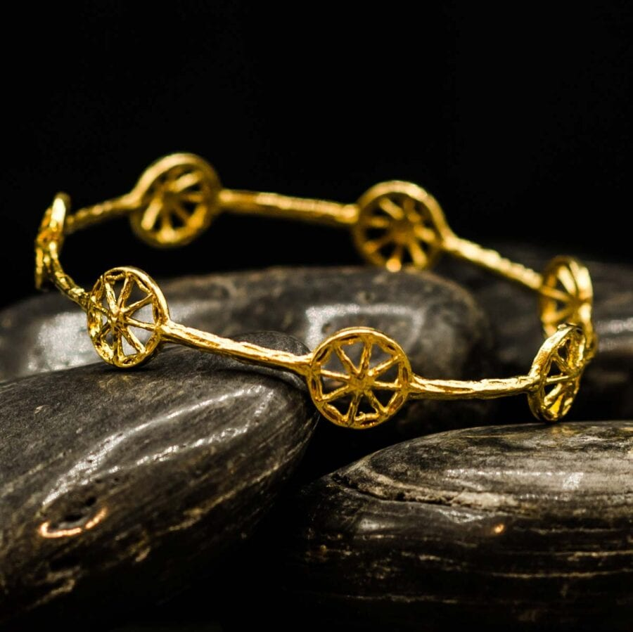 Unearthed Symbol Bangle in Gold