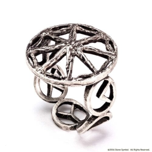 Men's Unity Ring in Antiqued Sterling Silver