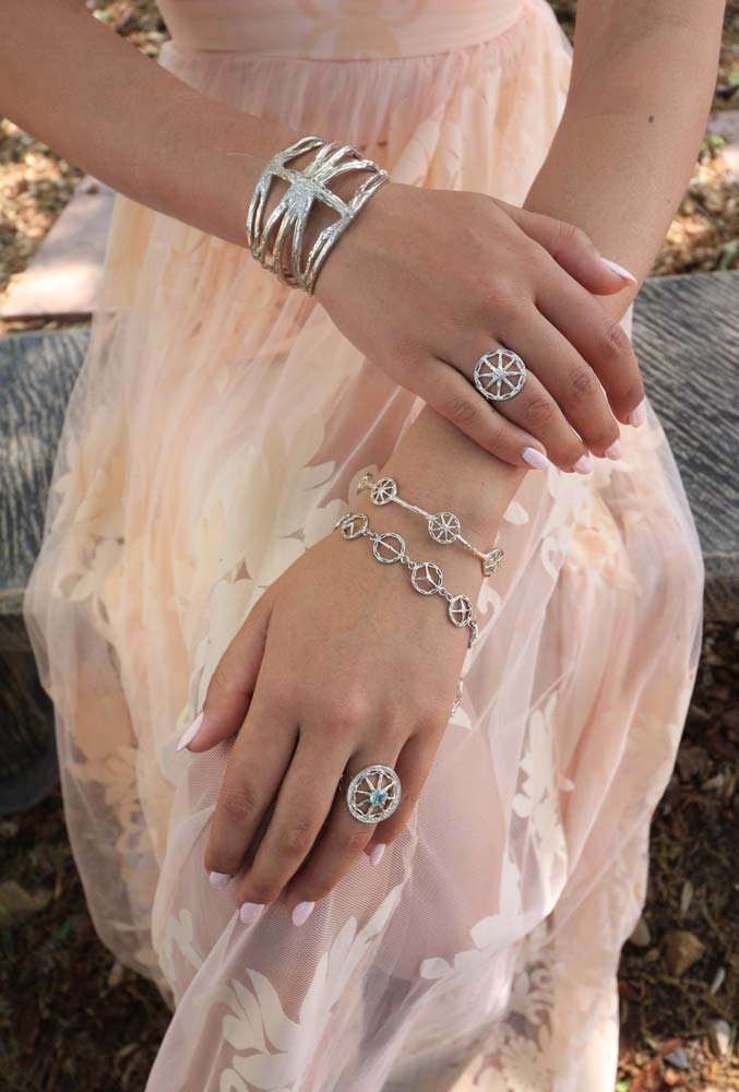 Bracelets, Cuffs and Bangles in Silver and Gold - Stone Symbol Jewelry