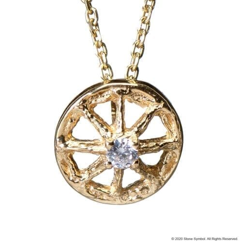 Mini Unearthed Diamond Pendant Yellow Gold