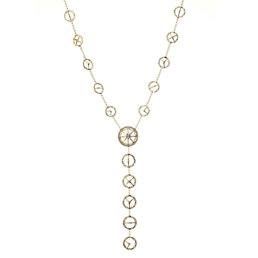 Trinity Necklace with Diamond in Yellow Gold